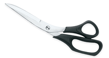 Sewing Scissors With Plastic     Handles
