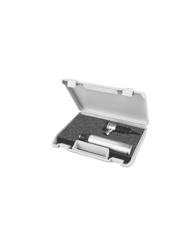 Otoscope set in hard plastic box