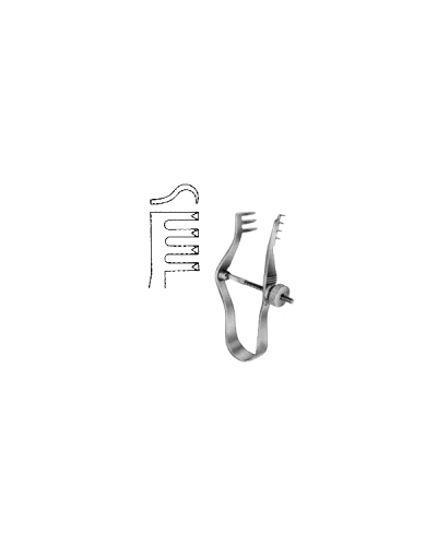 Finsen Retractor sharp w/screw 5cm