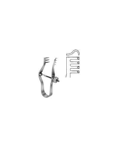 Finsen Retractor blunt w/screw 5cm