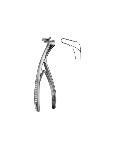 Tieck-Halle Nasal Speculam angled 13.5cm